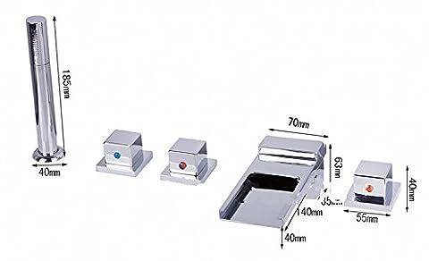 Gowe Bec Cascade Support Grohe Concetto Poignées Double Deck baignoire robinet avec douchette