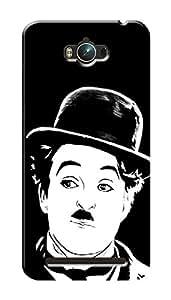Asus Zenfone Max ZC550KL Black Hard Printed Case Cover by HACHI - Charlie Chaplin Fans design
