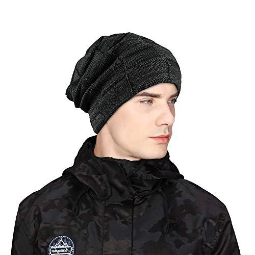 a94af1b20382b1 UKLink Beanie Hat Men Warm Knit Hat Oversize Skull Cap Male Female Skiing  Running Hiking Outdoor