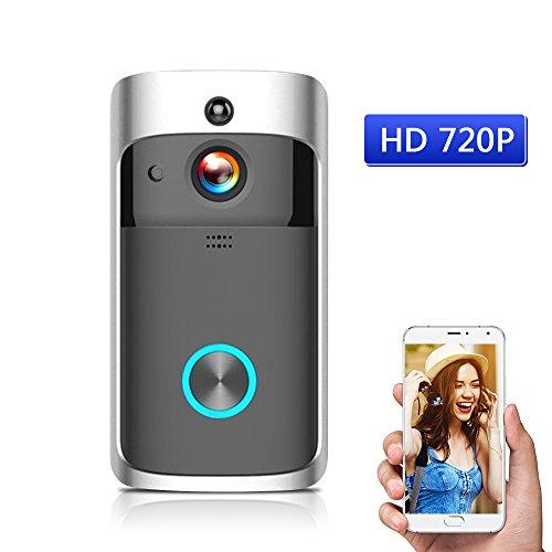 Cigopx WiFi Inteligente inalámbrico de Seguridad DoorBell Inteligente HD 720P grabación de...