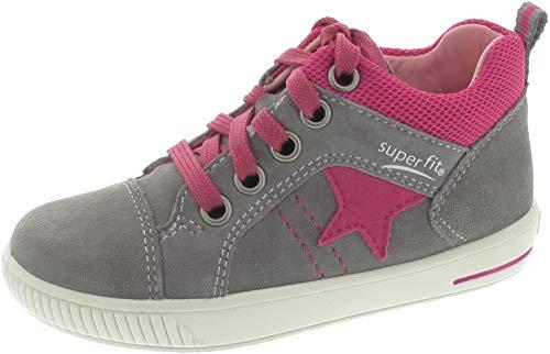 Superfit Baby Mädchen Moppy Sneaker Grau (Hellgrau/Rosa 26) 24 EU