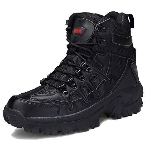 Männer Militärische Taktische Stiefel Wandern Lace-ups Wüste Armee Kampf Camping Wandern Stiefel Im Freien High Top Patrol Stiefel Schuhe,Black-43