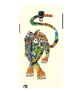 EPICCASE art tiger Mobile Back Case Cover For Samsung Galaxy Note 3 Neo (Designer Case)