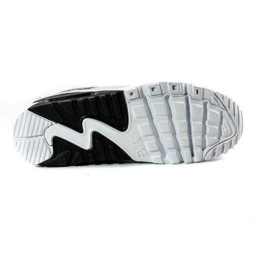 Nike Nike Air Max 90 Leather (Gs) Shoe, Sneakers basses mixte enfant Blanc Noir