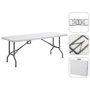 Tavolo pieghevole da Campeggio Buffet Catering 240 cm – tavolo da giardino pieghevole con maniglia