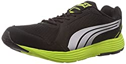 Puma Mens Descendant v2 IND DP Black-Puma Silver-Lime Punch Mesh Running Shoes - 7 UK/India (40.5 EU)