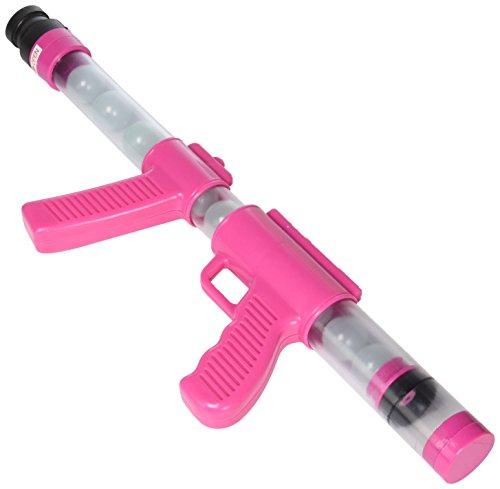 Deluxe Glow Pink Ping Pong Ball Shooter Moon Blaster Gun