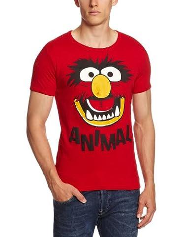 T-Shirt Animal - Muppet Show - Original T-Shirt von LOGOSHIRT - rot - Lizenziertes Originaldesign, Größe
