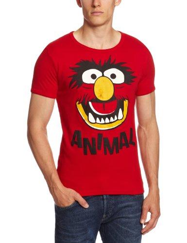 Logoshirt Unisex  T-Shirt Slim Fit Muppets-Faces-Animal, Gr. Small (Herstellergröße: Small), Rot -