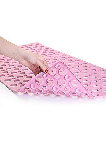 Handd Rutschgefahr Badewanne Mat Extra Soft Eco freundliche TPE Badematte für Kinder, maschinenwaschbare Bad Duschmatte, Smooth/Non-Textur ED Tubs only (Pink) - Eco-luxus Latex