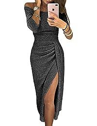 94dfc8c36dcfb Aleumdr Vestito Donna Senza Spalline Abito Donna Sexy Taglia S-XL