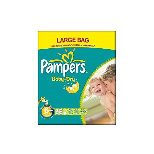 Preisvergleich Produktbild Pampers Baby Dry Größe 6+ Extra Large Plus-17kg + (36) - Packung mit 2