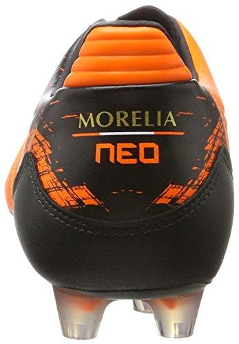 Mizuno Morelia Neo Kl Md, Chaussures de Football Homme Multicolore (Orangeclownfish/white/black)