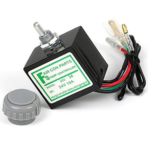 MuChangZi DC 24V 10A Temperatur Drehschalter mit Sensor für Auto A/C Klimaanlage Verdampfer -