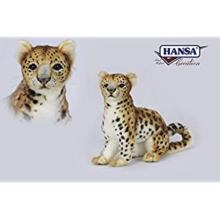 Hansa Amur Leopard Plush Soft Toy by 27cmH. 6779