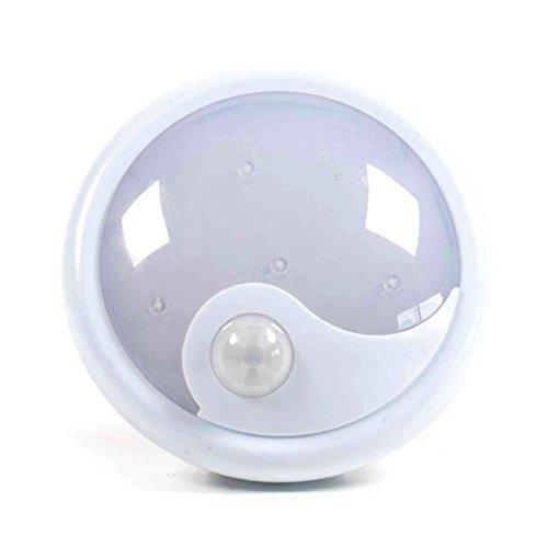 LED-Nachtlicht/-Notbeleuchtung, 6 LED, Infrarotsensor, bis zu 50.000 Std. Brenndauer, Batteriebetrieb, weiß