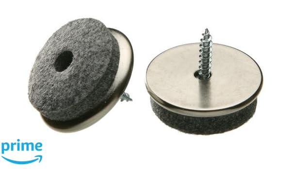 24 Filzgleiter zum schrauben rund Ø 20 mm Eisen Filz Gleiter Möbelgleiter Stuhl