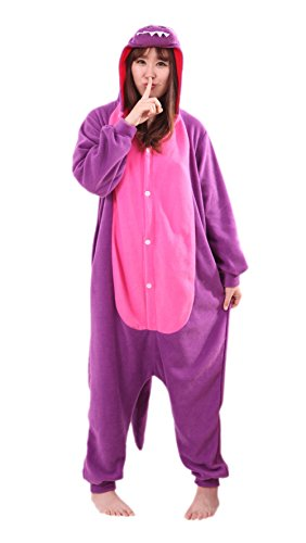 wachsene Animal Tier Weihnachten Halloween Fasching Carnival Kigurumi Cosplay Overall Pajamas Pyjamas Dinosaurier Schlafanzug Kostüme Jumpsuit Kleidung M (Billig Adult Spiderman Kostüm)