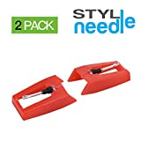 Stylineedle Pack of 2 Diamond Tip Needle for Turntables Crosley, Ion, Jensen, Bush and Teac