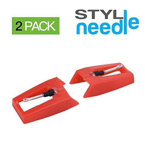stylineedle-pack-of-2-diamond-tip-needle-for-turntables-crosley-ion-jensen-bush-numark-and-teac