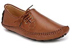 Andrew Scott Mens Tan Synthetic Leather Loafers - 1000Tan_7