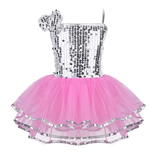 Iiniim Maillot Ballet Vestido Lentejuelas Danza Fiesta