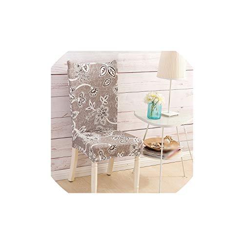 Moily Fayshow Esszimmer Stretch-Stuhl-Abdeckung Küche Anti-Dirty Spandex mit Blumenmuster Slipcover, 10, Universal Größe (Stuhl-arm-protektoren)