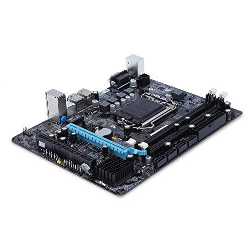 FairytaleMM 6 Canales Placa Base P55-A-1156 Placa Madre computadora de Escritorio de Alto Rendimiento Interfaz de CPU Placa Base LGA 1156