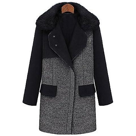 FF&CAI tempo libero lana spessa giacca di tweed delle donne