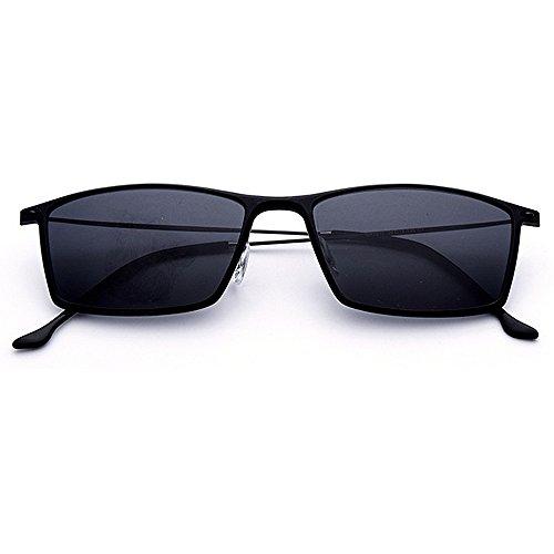 Ppy778 Sonnenbrillen Herren Sport Herren Polarisierte Sonnenbrillen Anti-Glare Driving Eyewear Metall Sonnenbrille (Color : Black)