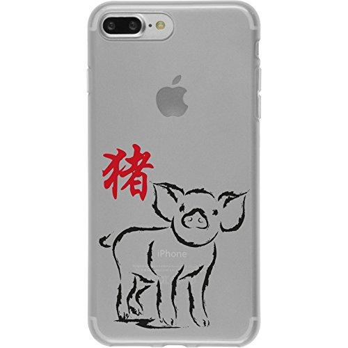 PhoneNatic Case für Apple iPhone 7 Plus Silikon-Hülle Tierkreis Chinesisch M9 Case iPhone 7 Plus Tasche + 2 Schutzfolien Motiv 12