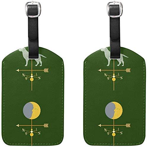 Verschiedene Wetterfahnen Gepäckanhänger Tasche Reiseetiketten für Gepäck Koffer 2PCS -