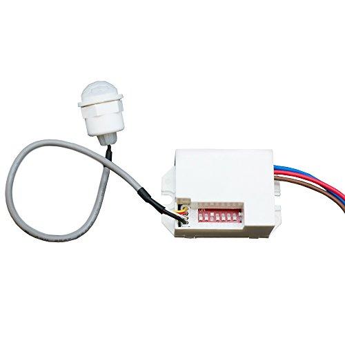 Mini PIR Einbau Bewegungsmelder 230V UP Infrarot LED 360 Grad Sensor Detector - 3