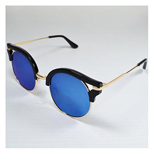 a90cfa3b154 Millennium Star - Haute émoticônes Lunettes de soleil femme noire lentilles  bleues