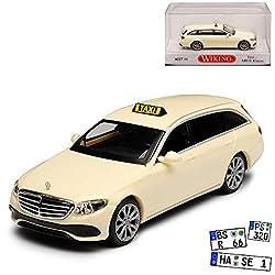 Wiking Mercedes-Benz E-Klasse S213 Taxi Kombi T-Modell Beige Ab 2016 H0 1/87 Modell Auto mit individiuellem Wunschkennzeichen