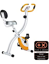 Ultrasport F-Bike Advanced Bicycle Trainer with Training Computer, App, Pulse Readers, Collapsible