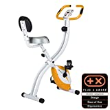 Ultrasport F-Bike Home Trainer 200B with hand pulse sensors, with backrest, foldable, Orange