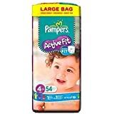 Pampers Active Fit Taille 4 Grand format 54 par paquet