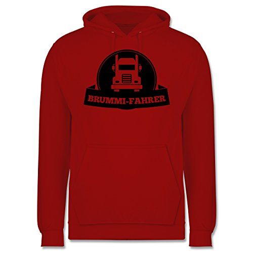 Trucker - Brummi-Fahrer - Männer Premium Kapuzenpullover / Hoodie Rot