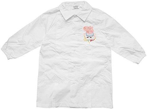Enfant Garçon Fille Peppa George Pig Ecole Peinture Artisanale Tablier Tailles de Chemise DE 2 à 8 Ans - Blanc, 7 Years