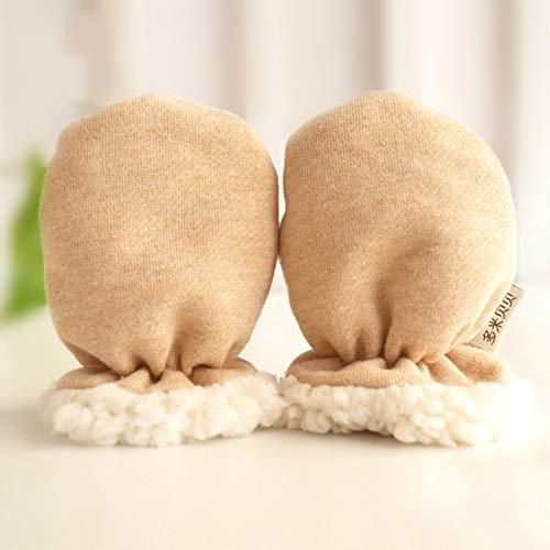 RIsxffp Winter Thicken Handschuhe Cotton Soft Warm Infant Baby Anti Scratch Gloves Newborn Mittens Mehrfarbig -