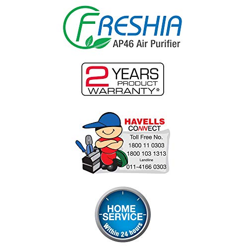 Havells Freshia AP-46 85-Watt Air Purifier with Remote (White/Black)
