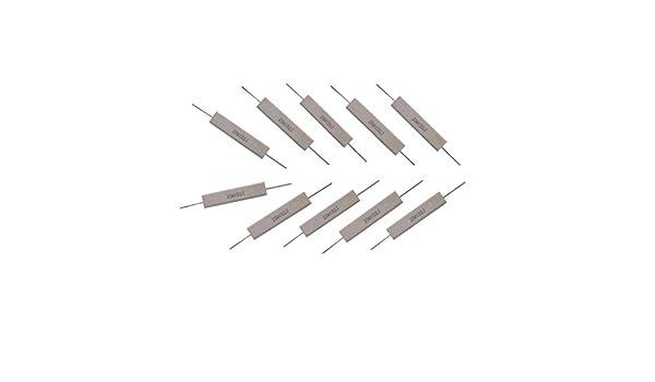 Almencla 10 Ohm 20 W Drahtzement Keramikwiderstand Wei/ß 10 St/ü