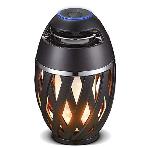 Luceco -  Musik und Licht Wiederaufladbarer LED-Fackel, der eine Flamme simuliert. Eingebaute...