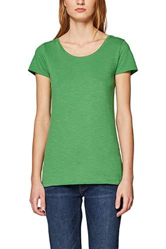 edc by ESPRIT Damen 128CC1K009 T-Shirt, Grün (Dark Green 3 302), X-Small (Herstellergröße: XS)