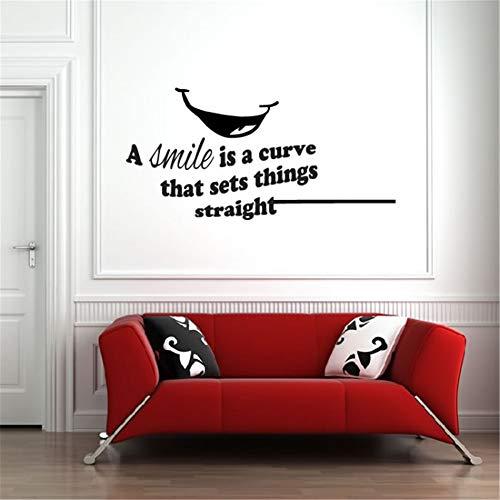 wandaufkleber baum Ein Lächeln ist eine Kurve, die Sachen gerade für Wohnzimmerschlafzimmer setzt