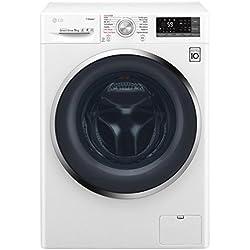 LG F94J72WHS Autonome Charge avant 9kg 1400tr/min A+++-30% Blanc machine à laver - Machines à laver (Autonome, Charge avant, Blanc, boutons, Rotatif, Toucher, Gauche, 150°)