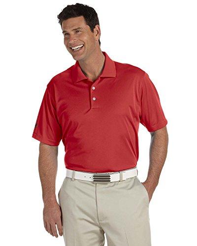 Herren adidas Golf-A130ClimaLite Piqué st-con mit Patte und Polo XL Rot (University Red) (Golf Climalite)