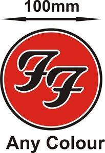 Smarts-Art Laptop-Aufkleber Motiv Logo Foo Fighters (Sign Aufkleber)