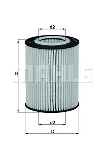 Preisvergleich Produktbild Ölfilter - Mahle OX 433D
